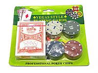 Карты игральные с фишками для покера