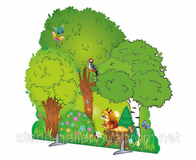 Нарисованный лес своими руками