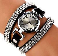 Наручные женские часы со стразами код 191