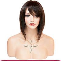 Парик из натуральных волос 20-25 см 85 грамм, Шоколад №02