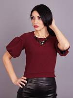 Нарядная женская кофточка Флора бордового цвета