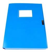 Папка-бокс для документов на липучке синяя