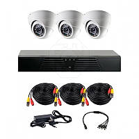Комплект AHD видеонаблюдения на 3 внутренние камеры CoVi Security AHD-3D KIT