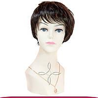 Парик из натуральных волос ультракороткий 68 грамм, Шоколад №02