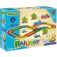 Детская игровой набор железная дорога Вадер Wader 51701