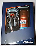 Подарочный набор GILLETTE FUSION PROGLIDE MANUAL RAZOR FLEXBALL, с одним картриджем + гель для бритья