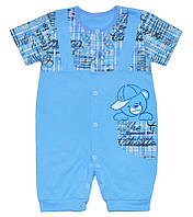 Детский песочник-футболка р. 86 ткань КУЛИР 100% тонкий хлопок ТМ АексТекс 3075 Голубой2