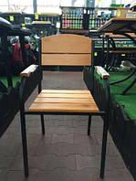 Садовый стул «Злата Прага», мебель для дачи из металла и дерева хвойных пород