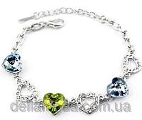 Браслет с австрийскими кристаллами Heart of Ocean