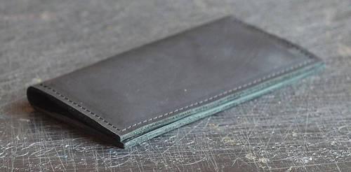 Оригинальное портмоне из натуральной кожи GBAGS W011 черный