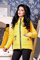 Куртка  желтая женская демисезонная  В - 925  Лаке Тон 15