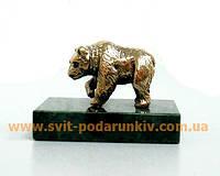 Бронзовая статуэтка Медведь, памятный сувенир