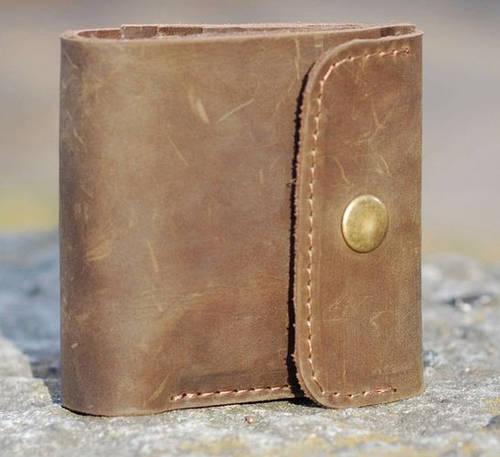 Качественное портмоне из натуральной кожи GBAGS W019 коричневый
