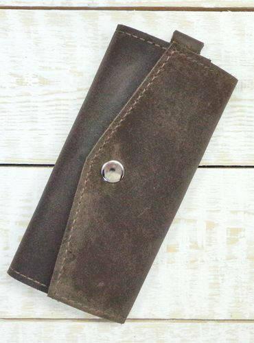 Удобная ключница из натуральной кожи GBAGS A.0001-CH коричневый