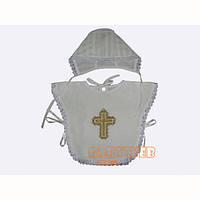 Пелеринка для крещения с чепчиком (миткаль, прошва)