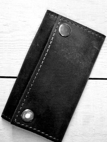 Аккуратная ключница из натуральной кожи GBAGS A.0003 черный