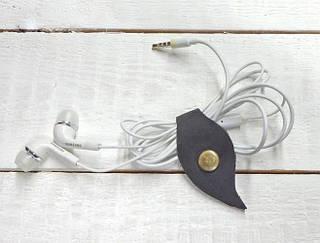 Комплект холдеров для шнуров из натуральной кожи GBAGS AH.0001-CH серый