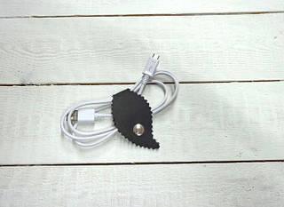 Качественный комплект холдеров для шнуров из натуральной кожи GBAGS AH.0003-CH серый