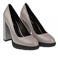 Стильные женские туфли Angelo Vani (весенние, летние, осенние, на високом каблуке, на платформе, серые)