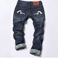 Стильные мужские джинсы EVISU. Оригинальный дизайн. Высокое качество. Интернет магазин. Код: КДН119