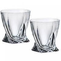 Набор стаканов Quadro для виски 340мл 2шт Bohemia b2k936 99A44