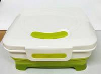 Емкость для продуктов mix пластиковая раскладная с крышкой 20 20 5,5 см mix Vincent VC 1336 mix