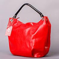 Красная сумка-мешок женская с одной ручкой