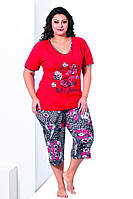 Костюм женский футболка с капри