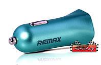 Автомобильная зарядка Remax для смартфонов и планшетов ✓ 2*USB ✓ 3.1А ✓ 12V ⟷ 24V ✓ цвет: бирюза