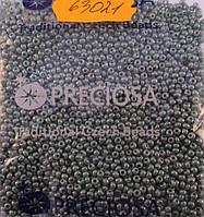 Бисер 10/0, №63021, бирюзово-зеленый с цветным глянцем