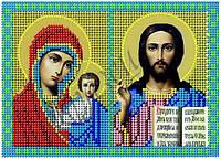 Схема для вышивания бисером икона Казанская Богородица и Иисус Вседержитель КМД 5001