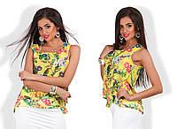 Летняя блузка в цветок