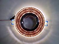 Точечный светильник Feron СD877 c LED подсветкой (коричневый)
