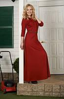 Теплое платье в пол с карманами