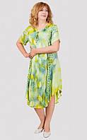 Стильное платье в зеленых тонах