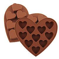 Силиконовая форма для мастики сердце сердечко для выпечки для лепки торта молд для мыла шоколада