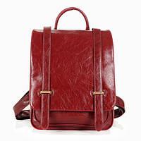 Стильный кожаный рюкзак для девушки