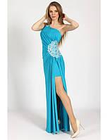 Платье вечернее с разрезом G0573 (р.42-48)