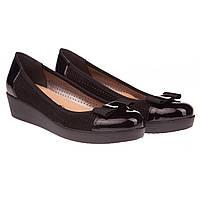 Замшевые женские туфли от Goral (удобные, с перфорацией, с элегантным бантом)