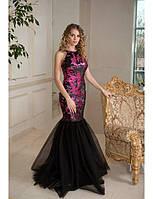 Вечернее платье-русалка с пайетками G0565 (р.44-46)