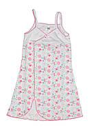 Ночная сорочка для девочек на бретельках (ластик)