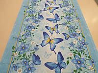 Ткань вафельная дизайн Бабочки