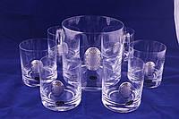 Набор из ведра и  6 стаканов для виски  в подарочной коробке.A226C5280