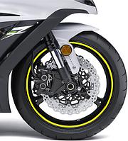 Флуоресцентная наклейка на обод мотоцикла Print Fluorescenti желтая