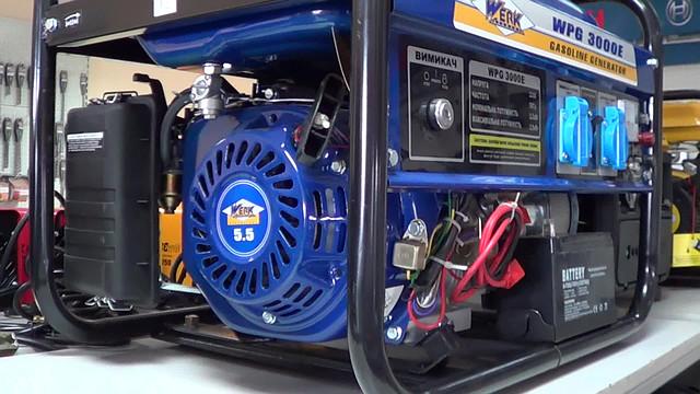 Двигатель на 5,5 л.с. на генераторе Werk 3000E фото 2