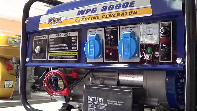 Приборная панель на электрогенераторе Werk 3000 E