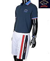 Шорты мужские спортивные Paul Shark-3014 белые.Новая коллекция!!!