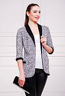 Буквы пиджак Фора-Д д/р ; цвета: принт-черная отделка,