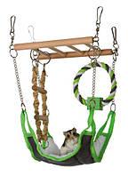 Подвесная лестница с гамаком для мышей, хомяков, крыс