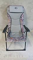 Складной стул для пикника Grilland, полиэстер, регулируемая спинка с подголовником